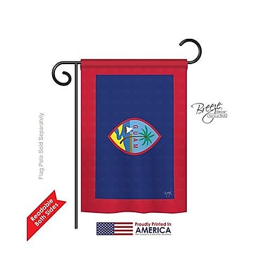 TwoGroupFlagCo Guam 2-Sided Vertical Flag; 40'' H x 28'' W