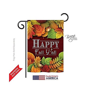 TwoGroupFlagCo Happy Fall Y All 2-Sided Vertical Flag; 40'' H x 28'' W