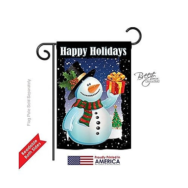 TwoGroupFlagCo Holiday Snowman 2-Sided Vertical Flag; 18.5'' H x 13'' W