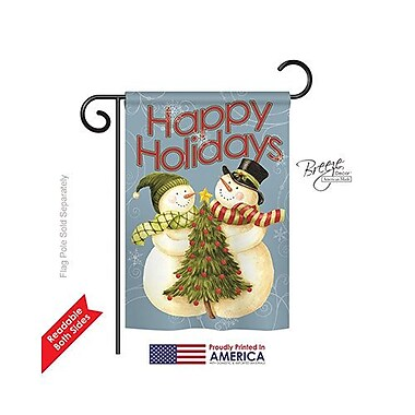 TwoGroupFlagCo Happy Holidays Tree 2-Sided Vertical Flag; 18.5'' H x 13'' W