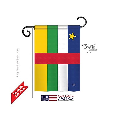 TwoGroupFlagCo Central African Republic 2-Sided Vertical Flag; 40'' H x 28'' W