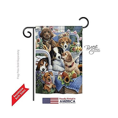 TwoGroupFlagCo Country Pups 2-Sided Vertical Flag; 40'' H x 28'' W