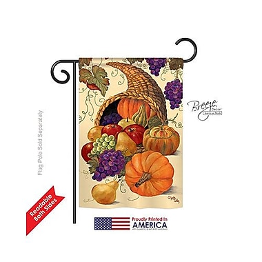TwoGroupFlagCo Cornucopia 2-Sided Vertical Flag; 18.5'' H x 13'' W