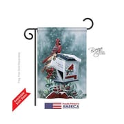 TwoGroupFlagCo Christmas Cardinals 2-Sided Vertical Flag; 18.5'' H x 13'' W