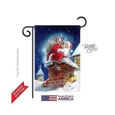TwoGroupFlagCo Chimney Santa 2-Sided Vertical Flag; 40'' H x 28'' W