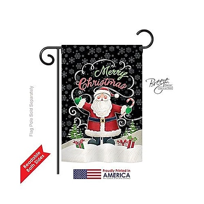 Breeze Decor Candy Cane Santa 2-Sided Vertical Flag; 40'' H x 28'' W