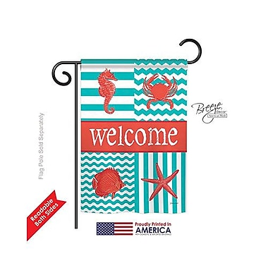 TwoGroupFlagCo Coastal Collage 2-Sided Vertical Flag; 18.5'' H x 13'' W