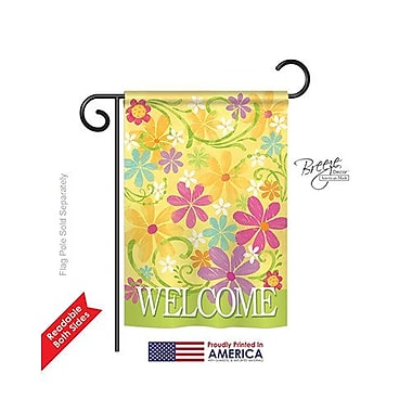 TwoGroupFlagCo Daisy Garden 2-Sided Vertical Flag; 18.5'' H x 13'' W