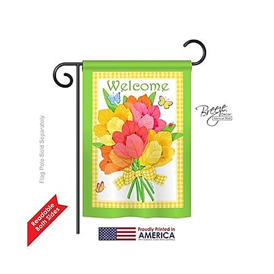 TwoGroupFlagCo Flower Bouquet 2-Sided Vertical Flag; 18.5''