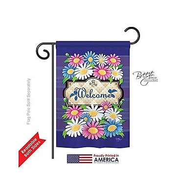 TwoGroupFlagCo Daisies Welcome 2-Sided Vertical Flag; 40'' H x 28'' W