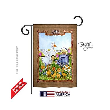 TwoGroupFlagCo Duck and Duckies 2-Sided Vertical Flag; 18.5'' H x 13'' W