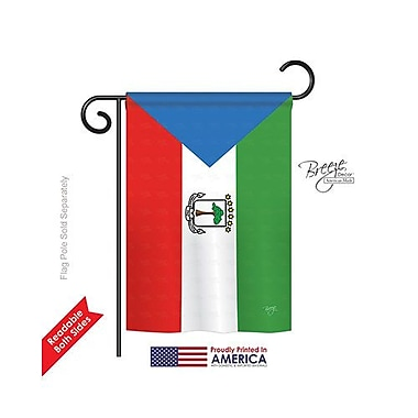 TwoGroupFlagCo Equatorial Guinea 2-Sided Vertical Flag; 40'' H x 28'' W