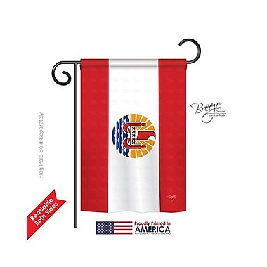 TwoGroupFlagCo French Polynesia 2-Sided Vertical Flag; 40'' H x 28'' W