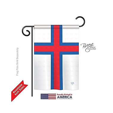 TwoGroupFlagCo Faroe Islands 2-Sided Vertical Flag; 40'' H x 28'' W
