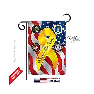 TwoGroupFlagCo Support our Troops Freedom 2-Sided Vertical Flag; 18.5'' H x 13'' W