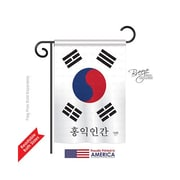 TwoGroupFlagCo South Korea 2-Sided Vertical Flag; 40'' H x 28'' W