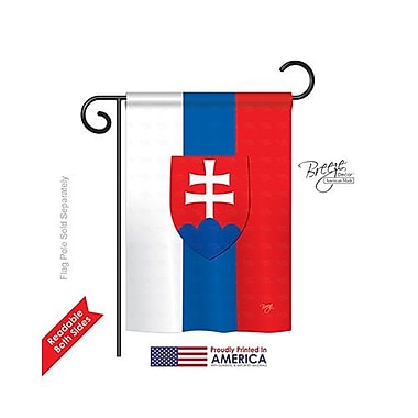 TwoGroupFlagCo Slovakia 2-Sided Vertical Flag; 18.5'' H x 13'' W