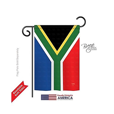TwoGroupFlagCo South Africa 2-Sided Vertical Flag; 18.5'' H x 13'' W