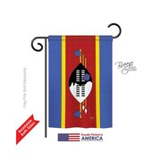 TwoGroupFlagCo Swaziland 2-Sided Vertical Flag; 40'' H x 28'' W