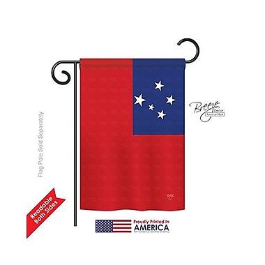 TwoGroupFlagCo Samoa 2-Sided Vertical Flag; 18.5'' H x 13'' W