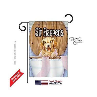 TwoGroupFlagCo Sit Happens 2-Sided Vertical Flag; 18.5'' H x 13'' W