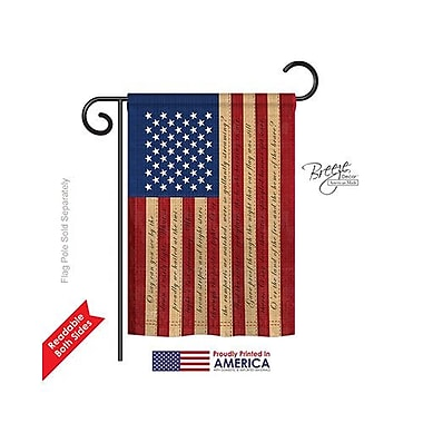 TwoGroupFlagCo Star Spangled 2-Sided Vertical Flag; 40'' H x 28'' W