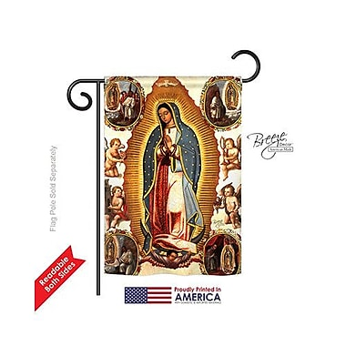 TwoGroupFlagCo Our Lady of Guadalupe 2-Sided Vertical Flag; 40'' H x 28'' W