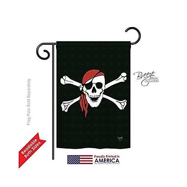 TwoGroupFlagCo Red Bandana 2-Sided Vertical Flag; 18.5'' H x 13'' W