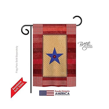 TwoGroupFlagCo One-Star Service 2-Sided Vertical Flag; 18.5'' H x 13'' W