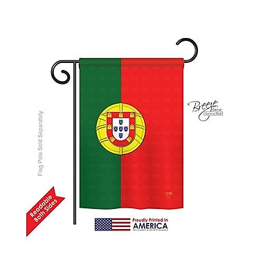 TwoGroupFlagCo Portugal 2-Sided Vertical Flag; 18.5'' H x 13'' W