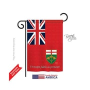 TwoGroupFlagCo Ontario 2-Sided Vertical Flag; 18.5'' H x 13'' W