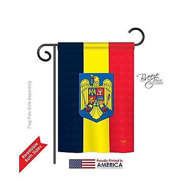 TwoGroupFlagCo Romania 2-Sided Vertical Flag; 18.5'' H x 13'' W