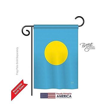 TwoGroupFlagCo Palau 2-Sided Vertical Flag; 40'' H x 28'' W