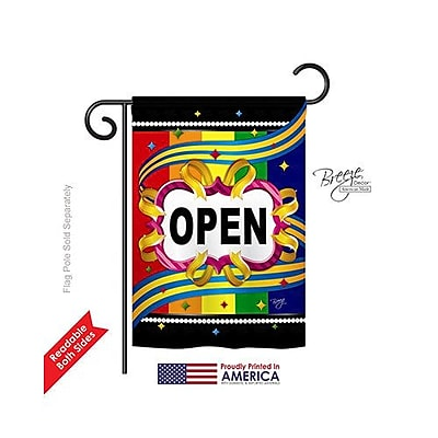 TwoGroupFlagCo Open 2-Sided Vertical Flag; 18.5'' H x 13'' W