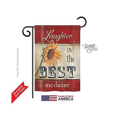 TwoGroupFlagCo Laughter is the Best Medicine 2-Sided Vertical Flag; 40'' H x 28'' W