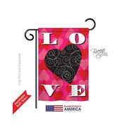 TwoGroupFlagCo Love Heart 2-Sided Vertical Flag; 40'' H x 28'' W