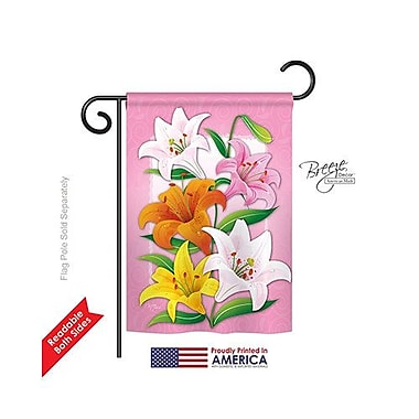TwoGroupFlagCo Lilies 2-Sided Vertical Flag; 40'' H x 28'' W