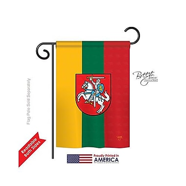 TwoGroupFlagCo Lithuania 2-Sided Vertical Flag; 40'' H x 28'' W