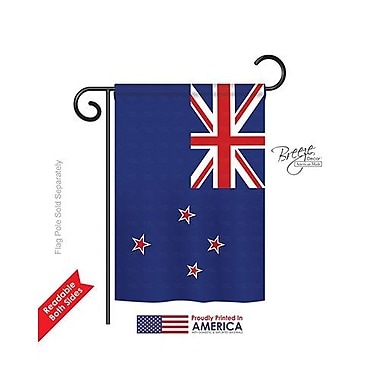 TwoGroupFlagCo New Zealand 2-Sided Vertical Flag; 40'' H x 28'' W