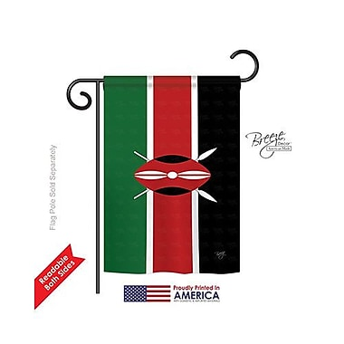 TwoGroupFlagCo Kenya 2-Sided Vertical Flag; 40'' H x 28'' W
