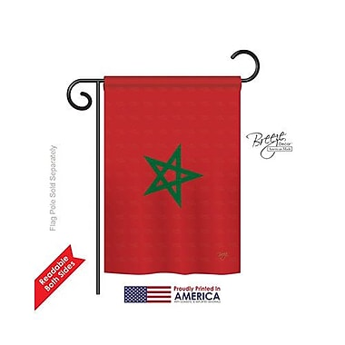 TwoGroupFlagCo Morocco 2-Sided Vertical Flag; 40'' H x 28'' W