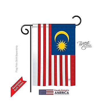 TwoGroupFlagCo Malaysia 2-Sided Vertical Flag; 18.5'' H x 13'' W