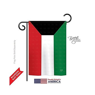 TwoGroupFlagCo Kuwait 2-Sided Vertical Flag; 40'' H x 28'' W