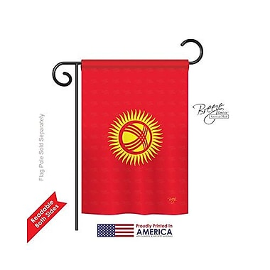 TwoGroupFlagCo Kyrgyzstan 2-Sided Vertical Flag; 40'' H x 28'' W