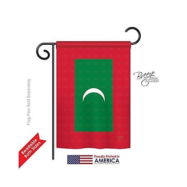 TwoGroupFlagCo Maldives 2-Sided Vertical Flag; 18.5'' H x 13'' W