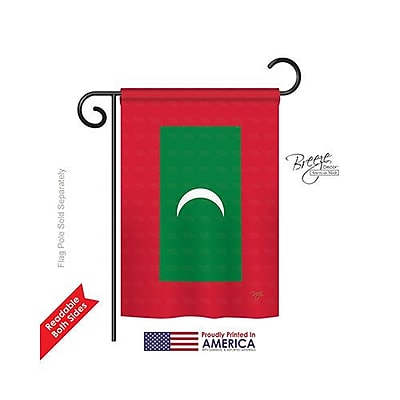 TwoGroupFlagCo Maldives 2-Sided Vertical Flag; 40'' H x 28'' W