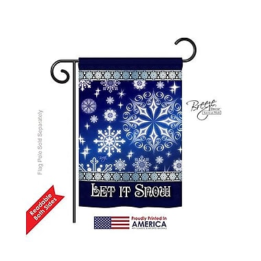 TwoGroupFlagCo Let It Snow Dream 2-Sided Vertical Flag; 40'' H x 28'' W