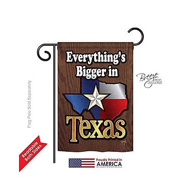 TwoGroupFlagCo Texas 2-Sided Vertical Flag; 40'' H x 28'' W