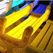 Contempo Lights LED Garden Bench; Yellow