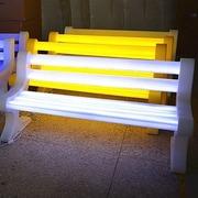 Contempo Lights LED Garden Bench; White